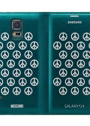 Чехол книжка Moschino Peace Wallet на Samsung Galaxy S5