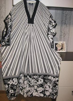 Широкое комфортное платье балахон курпулентной барышне большой...