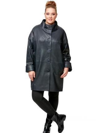 Женское кожаное пальто из натуральной кожи uk14-16