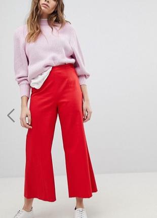 Шикарные брендовые красные классические брюки джинсы red tab l...