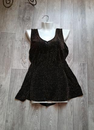 Черная базовая майка бренда Reflections 50-52 размера.