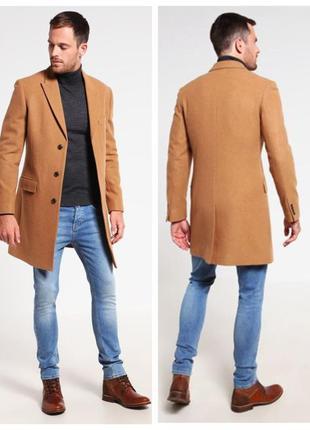 Пальто мужское классическое pier one рыжее шерстяное
