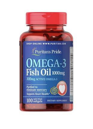 Omega-3 Fish Oil 1000 мг Puritan's Pride 100 капсул
