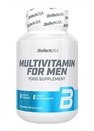 Вітаміни Multivitamin For Men BioTech 60 таблеток, витамины