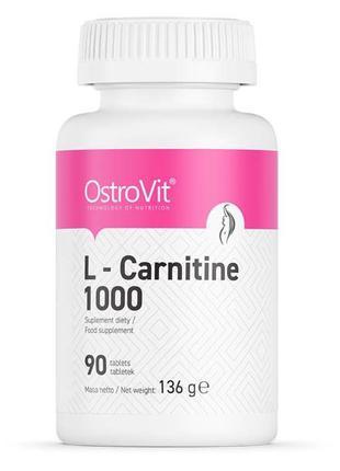 L- Карнитин L-Carnitine 1000 мг Ostrovit 90 таблеток