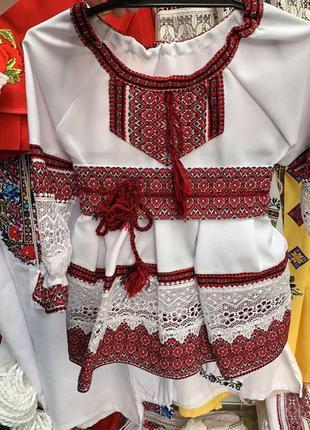 Детское платье с вышивкой и кружевом,этническое платье