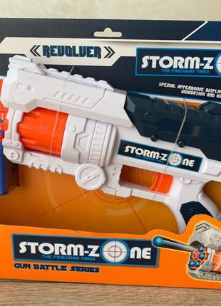 Бластер - пистолет Storm-Zone с мягкими пулями в комплекте