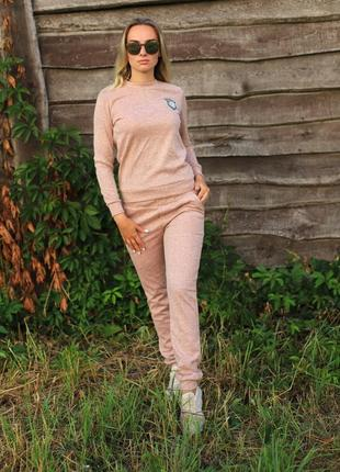 Женский костюм персик ангора