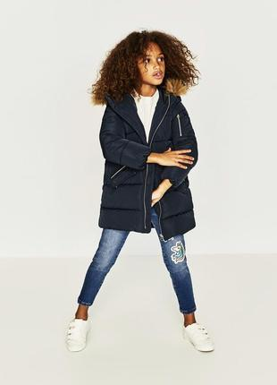 Зимняя куртка для девочки от zara