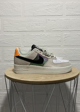 Кроссовки nike air force 1 low beige suede