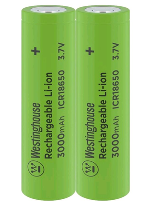 Аккумулятор литий-ионный Li-ion ICR 18650 3.7V 3000mAh 2шт.