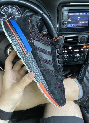 Кроссовки adidas zx x tfl 500 black and blue (hidoen london).