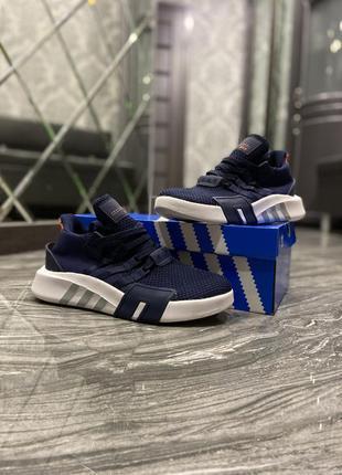 Кроссовки adidas equipment (eqt) black blue white.