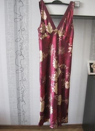 Богемное платье сатиновая сорочка комбинация бельевой стиль 14
