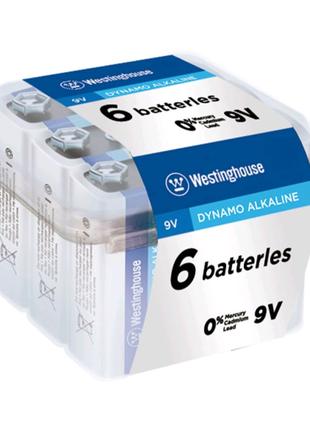 Щелочная батарейка Westinghouse Dynamo Alkaline 9V/6LR61 Крона