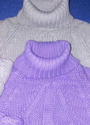 Стильная женская теплая мягкая кофта свитер гольф link off 42-...