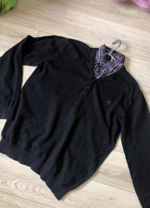 Пуловер с имитацией рубашки