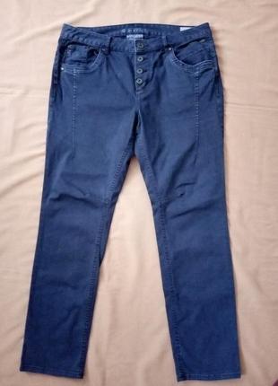 Темно-синие стрейчевые штаны, брюки
