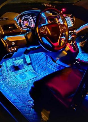 Подсветка в салон авто светомузыка в машину неон