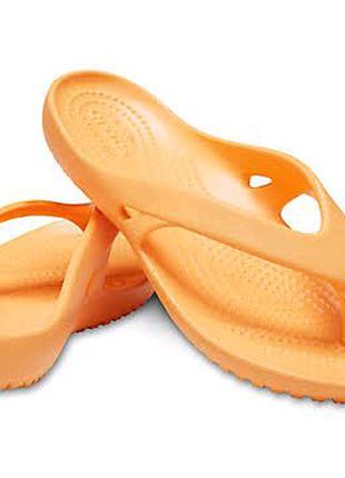 Оригинальные новые женские шлепанцы вьетнамки 37 р. Crocs Kabee 2