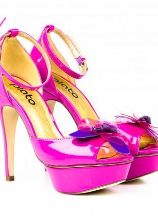 Туфли Босоножки в стиле zara на платформе и каблуке 37 23,5 см
