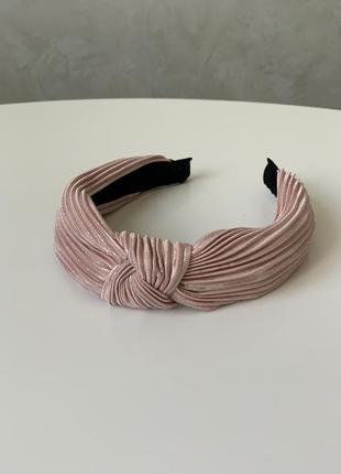 Стильный обруч ободок повязка на голову в стиле zara велюр с л...