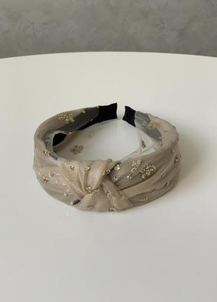 Стильный обруч ободок повязка на голову в стиле zara чалма с б...