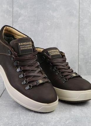 Мужские ботинки {натуральная кожа, зима}