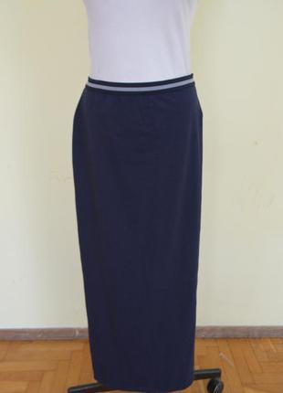 Шикарная стильная трикотажная коттоновая юбка длинная