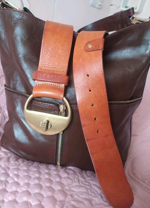 Эксклюзивный итальянский кожаный ремень Diesel, оригинал.