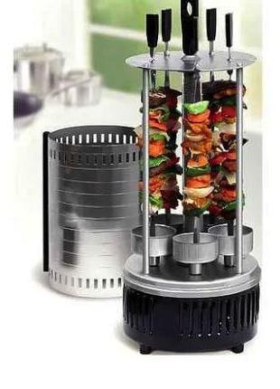 Электрошашлычница на 6 шампуров шашлычница 1000W, электромангал,