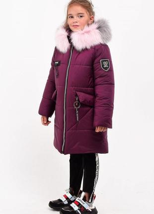 Зимняя куртка парка на девочек