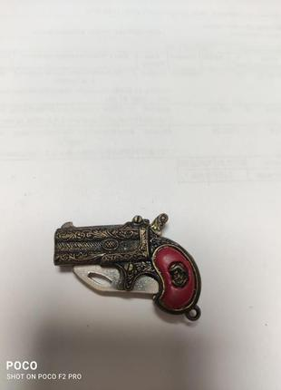Пистолет с ножом игрушечный миниатюра