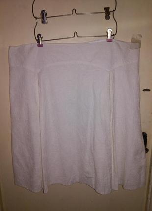 """Натуральная,красивейшая,белая юбка в """"розы"""",большого размера,g..."""