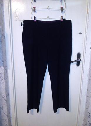 Классические,повседневные,угольно-чёрные брюки,с карманами,бол...