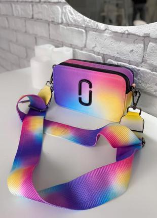 Женская сумка в стиле marc jacobs🔥наложенный платёж разноцветная