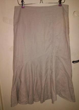 Натуральная (лён,коттон),очаровательная,женственная юбка, пот ...