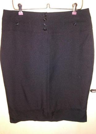 Элегантная,чёрная.,юбка-карандаш на подкладке,с разрезом,больш...