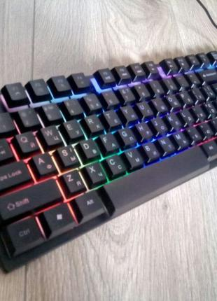 Клавиатура   с подсветкой мембранная