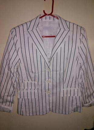 Шикарный,натуральный,модный пиджак-жакет-блейзер, с карманами,...
