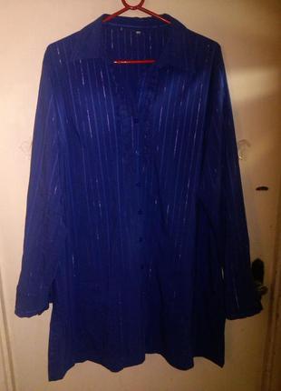 Платье-рубашка на пуговицах или удлиненная,фиолетовая блуза-ту...