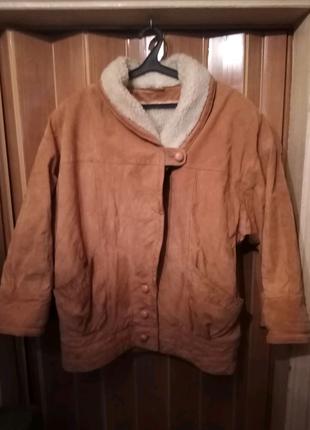 Куртка дубленка большого размера