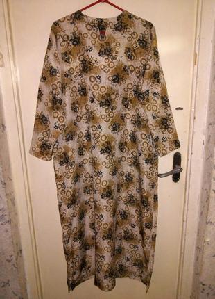 Длинное,женственное  платье-рубаха в пол,большого размера,сост...