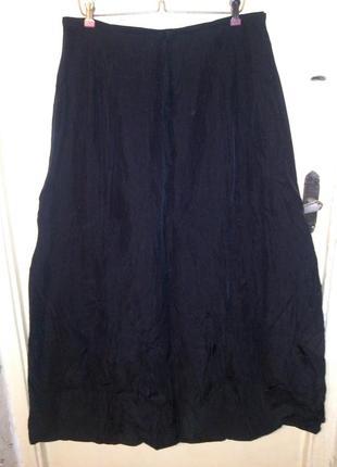Длинная,чёрная юбка,в пол, с подкладкой,франция, больш.разм,от...
