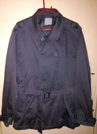 Мужская,натурал. куртка-тренч,карман. и поясом,бол.разм.,urban...