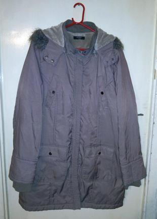Куртка-парка,c отстёгивающимся капюшоном,большого 24 размера, ...