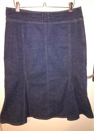 Джинсовая,стрейчевая юбка,большого размера, glaser и 90%одежды...