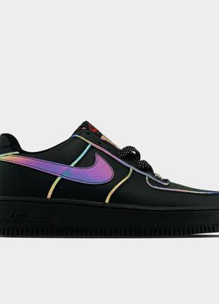 Nike air force low black reflective.