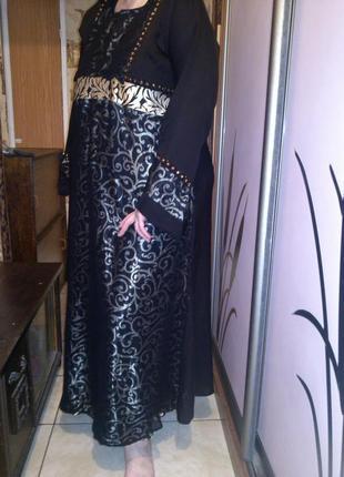 Шикарное,вечернее платье в пол,в восточном стиле,большого 60 р...
