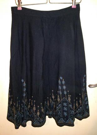 Натурал:хлопок,лён,очень красивая юбка с роскошной вышивкой,в ...